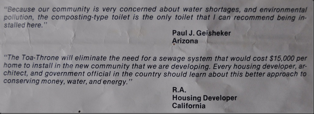 From original toa-throne brochure 1981