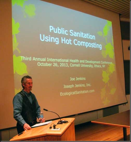Joe Jenkins at Health Symposium - Soruce, Cornell University