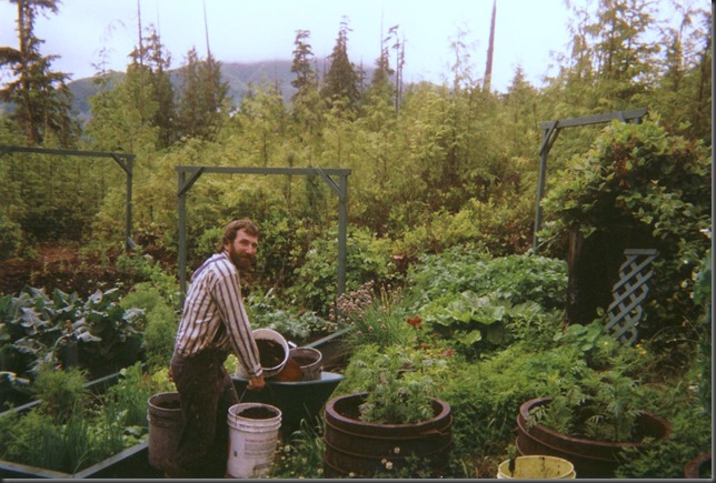 scanned photos - the garden back in the early 90's - Fran Guenette photo