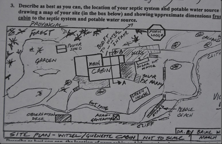 Site plan - bruce witzel drawing