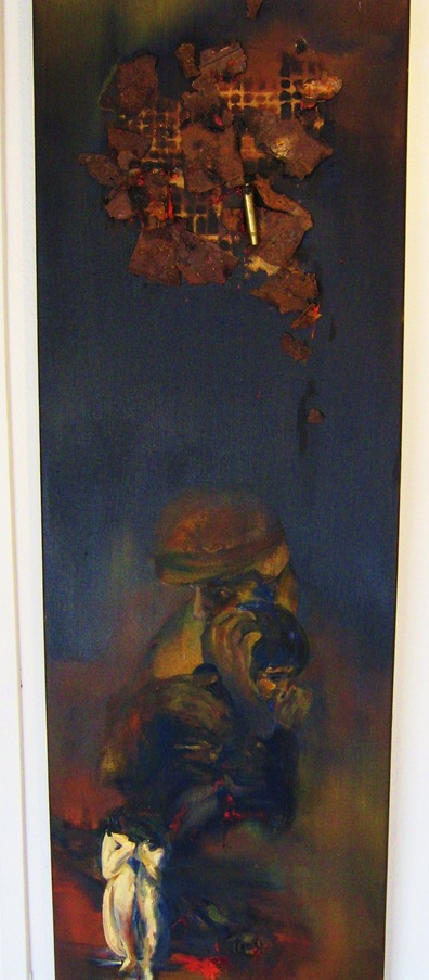Art from Tubac Arizona - painting entitled Grief Knows No Boundaries - artist unknown
