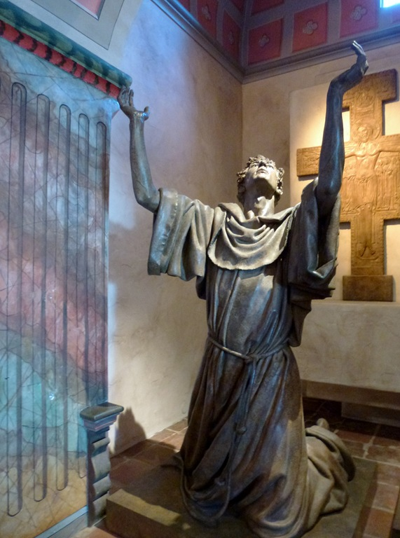 A statue at Queen of the Missions, Santa Barabara - bruce witzel photo