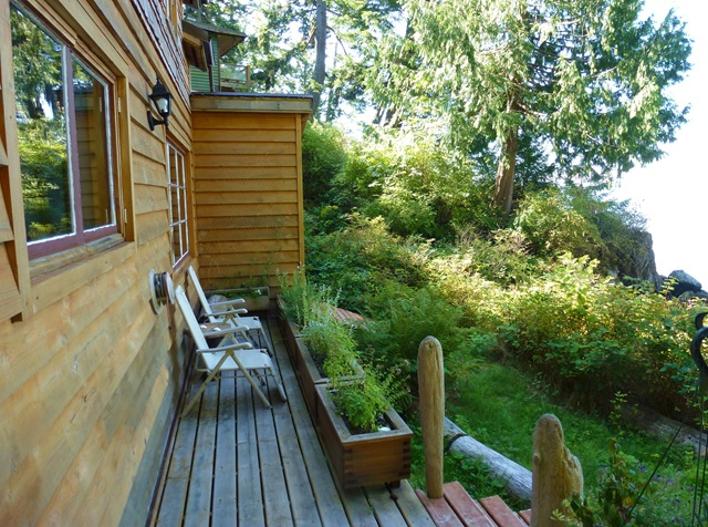 Front deck of a cabin overlooking the ocean - bruce witzel photo