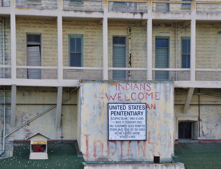 Alcatraz Island o ccupied by the American Indian Movement in 1969 - bruce witzel photo