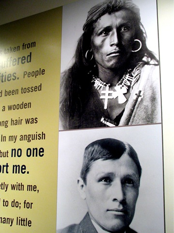 Attempted assimilaition of indigenous peoples of  the Americas - bruce witzel photo