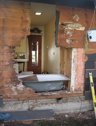 Bathroom reno in process - bruce witzel photo
