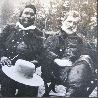 Chief Joseph of the Nez Perce with a United States General