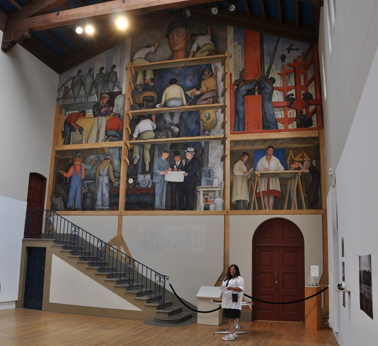 Diego Rivera mural - The making of a fresco showing the building of a city, at the San Francisco Art Institute - bruce witzel photo