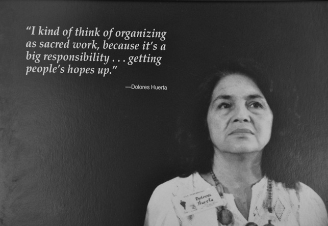 Dolores Huerta Mural at the National Steinbeck Center - bruce witzel photo