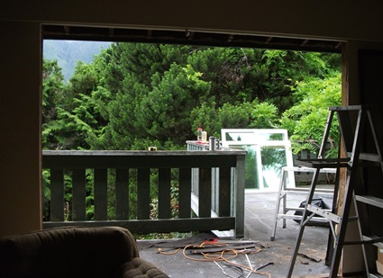 Looking out to old deck - photo by Laura Goatham
