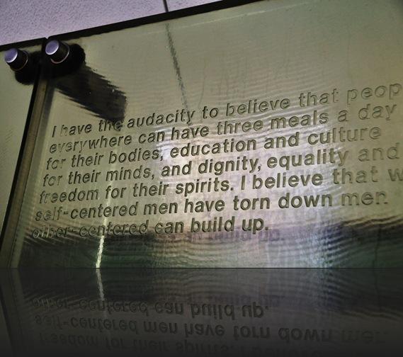 MLK memorial wall, Yerba Buena Gardens, San Francisco - bruce witzel photo