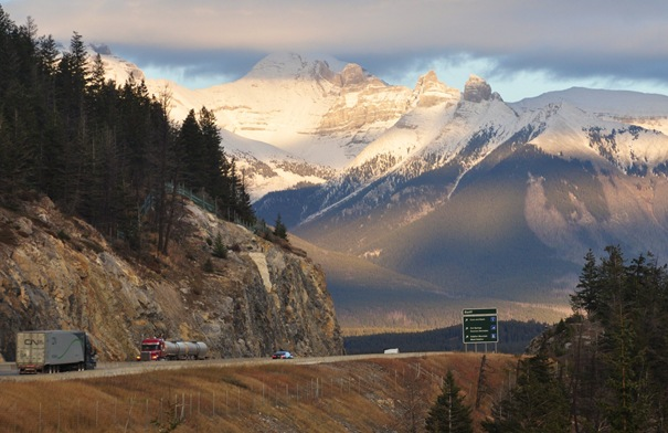 3)Trans Canada Highway in Banff National Park Oct 27, 2014 - Bruce witzel photo