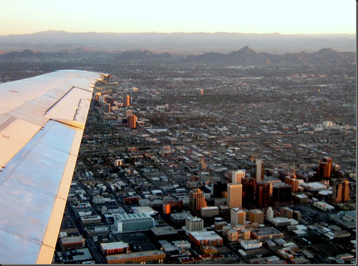 I'm flying over Phoenix - bruce witzel photo