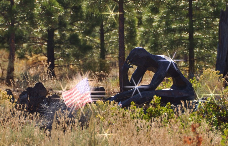 Living Memorial Sculpture Garden - created by Vietnam veteran and sculptural artist Denis Smith - photo by Bruce Witzel2b
