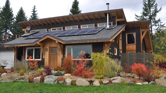 Solar Home in New Denver, British Columbia - Bruce Witzel photo