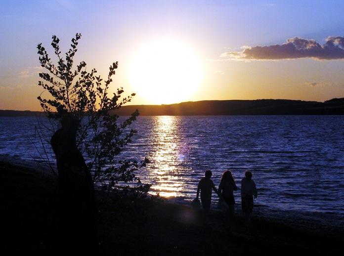 Sunset on Lake Manitou, Saskatchewan - bruce witzel photo