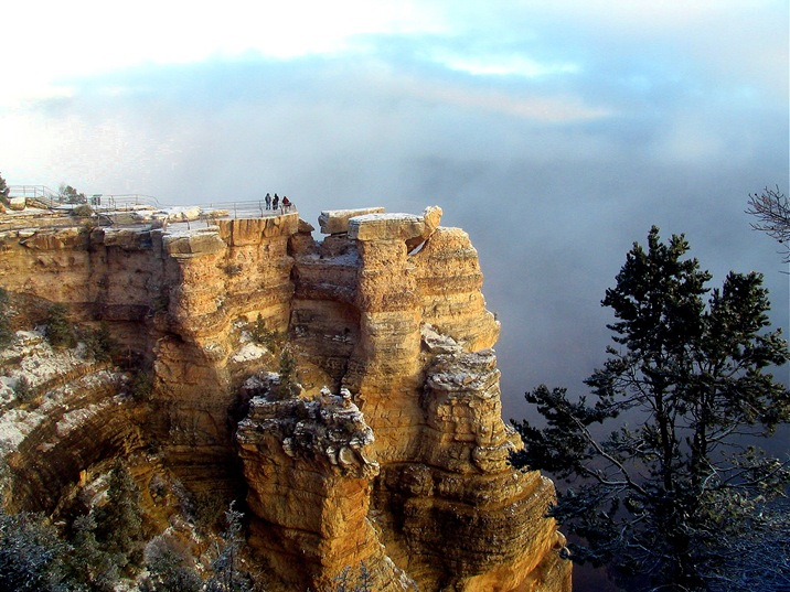 Observation deck on the Grand Canyon - bruce witzel photo