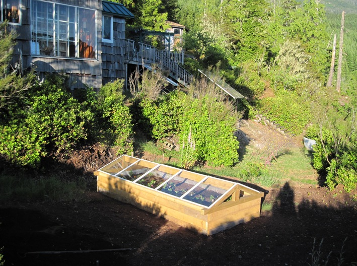 Coldframe at sunset, May 31 - 2015