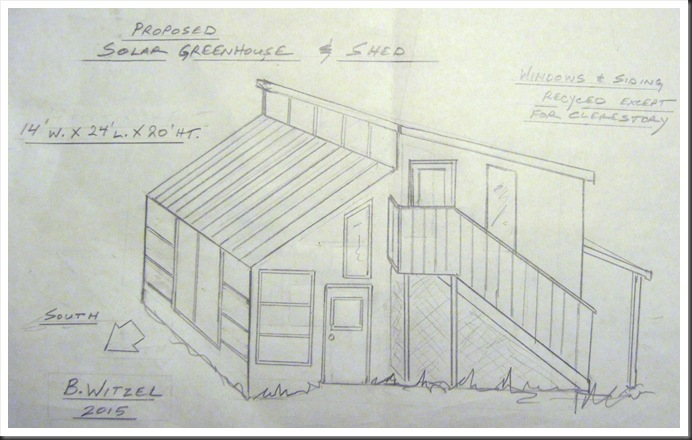 Proposed Solar Greenhouse and Shed - by b.witzel