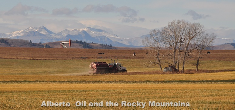 Alberta Rockies and oil - bruce witzel photo