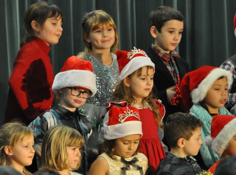 Emma's Grade 2 class at the 2015 Christmas concert - bruce witzel photo