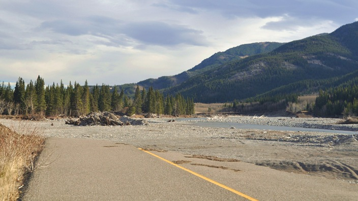 Highwood River meets Alberta Highway 541