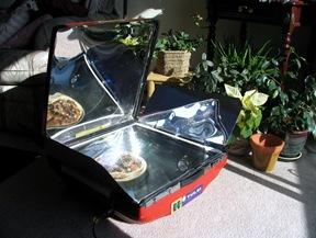 Hybrid solar electric cooker - bruce witzel photo