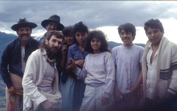 Oaxaca Mexico with ecclesial itinerent missionaries - 1992 - bruce witzel photo on tripod