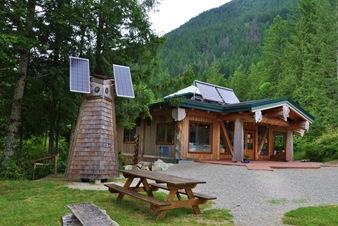 Solar powered nature centre on the Sunshine Coast of BC - bruce witzel photo, through the luminary lens