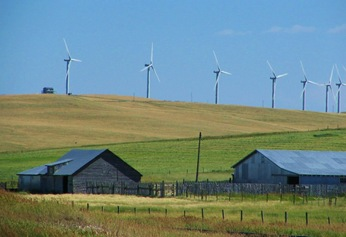 Windfarm near Pincher Creek, Alberta - bruce witzel photo