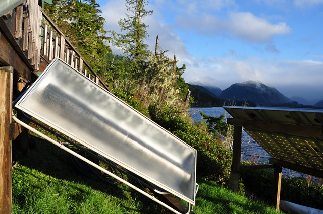 Our solar water heater tank March 3, 2016 -bruce witzel photo