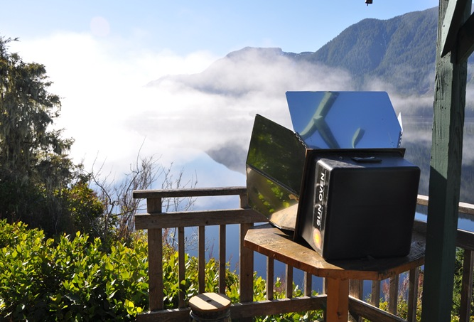 A good solar cooking  day as the fog lifts - bruce witzel photo