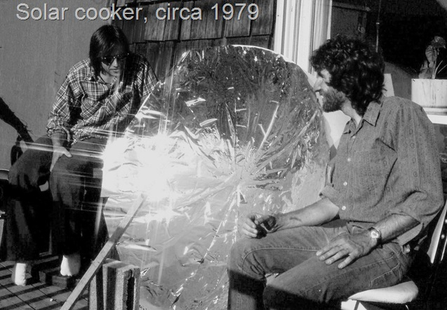 My first solar oven, circa 1979 - bruce witzel photo