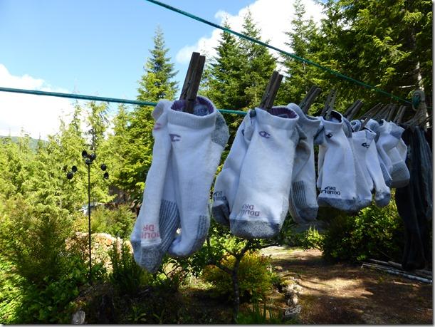Socks on the line - Guenette photo