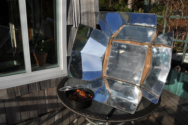 Sun oven with reflectors open - Bruce Witzel photo