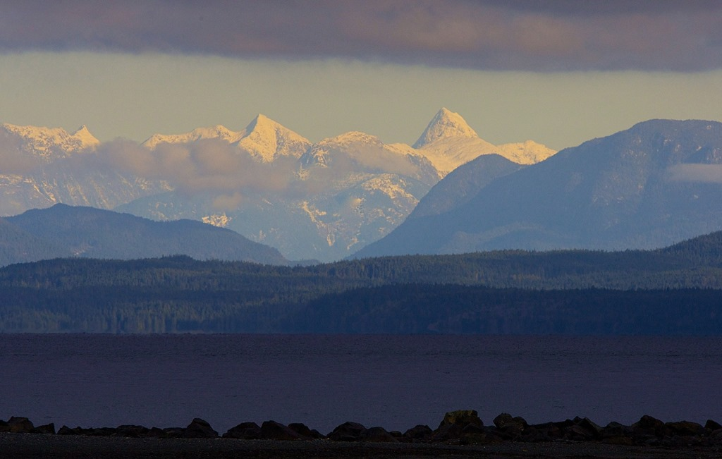 Coast Mountains, from Oyster Bay, Dec. 2, '14. charles brandt photo