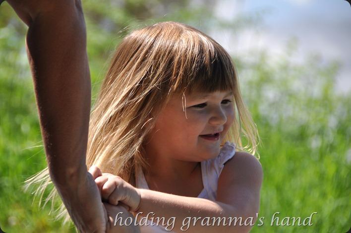 Holding Gramma's hand - bruce witzel photo