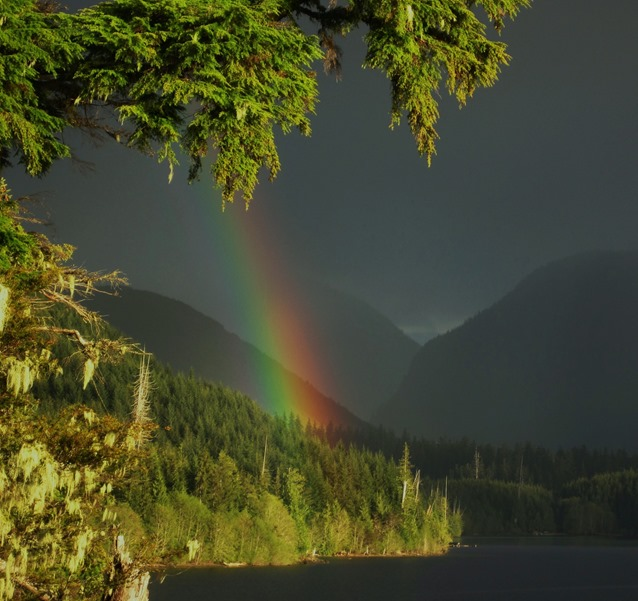 Rainbow at the lake - bruce witzel photo (3)