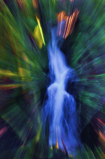 Waterfall abstract - bruce witzel photo