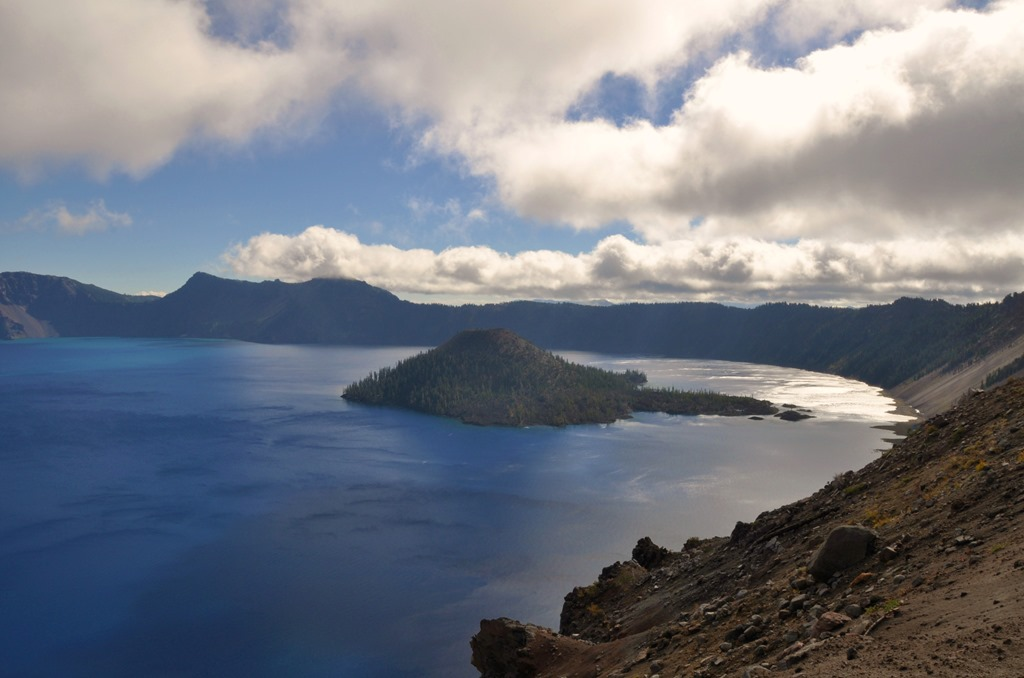 Crater Lake  - cold and windy - bruce witzel photo