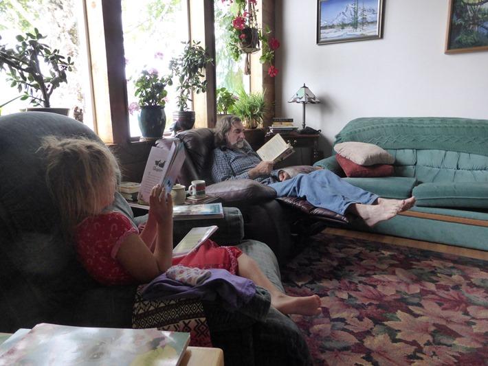 Emma & Bruce, morning reading - francis guenette photo