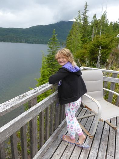 Emma on the cliff deck, July 2016 - fran guenette photo