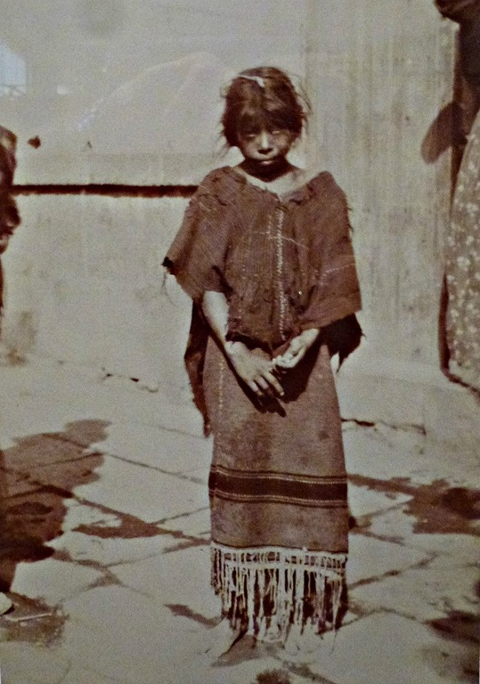 Young girl 1910, Northern Mexico - photo of a photo(edited) by C. Waite