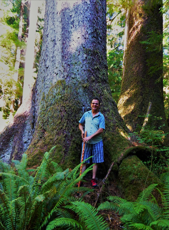 Keith @ Spruce Bay Old Growth Trail - bruce witzel photo (2)