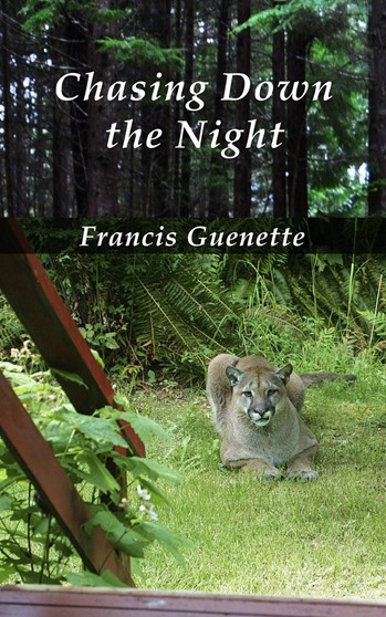 Chasing Down the Night (cover)  novel -by  Francis Guenette