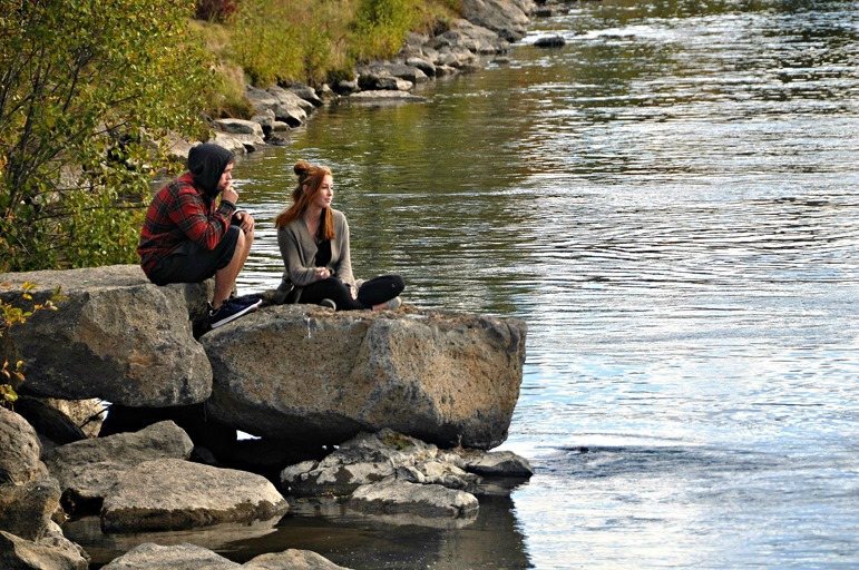 Contemplating Deshutes River in Bend Oregon(4)(2) - bruce witzel photo
