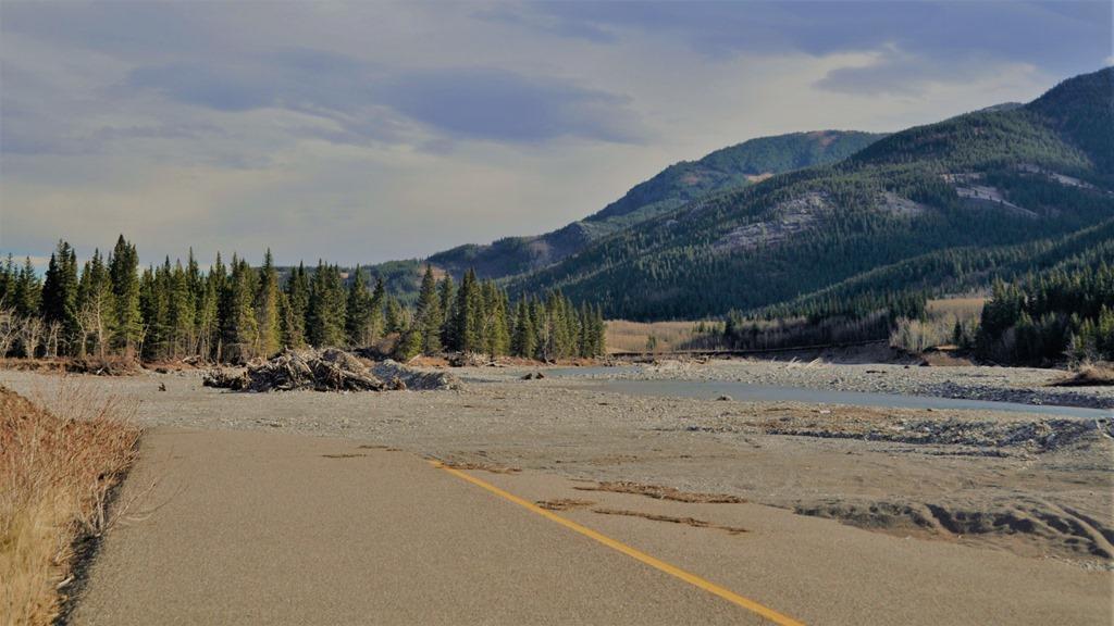 Highwood River meets Alberta Highway 541 - bruce witzel photo