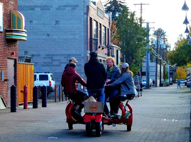 4 seated bicycle in Bend, Oregon (2)- fran guenette photo
