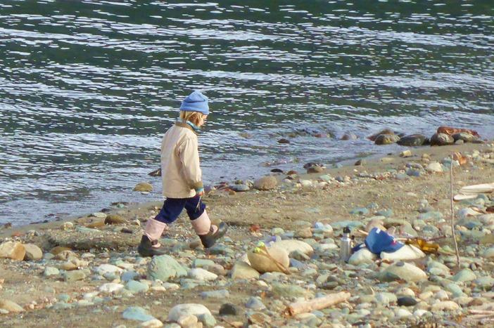Boy in Kaslo BC - Fran Guenette photo