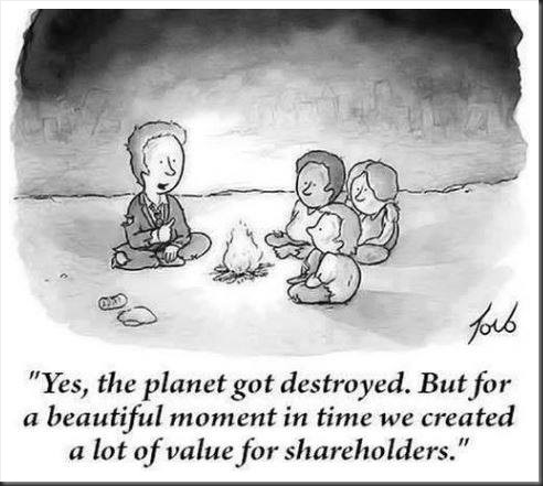Cartoon - value for shareholders